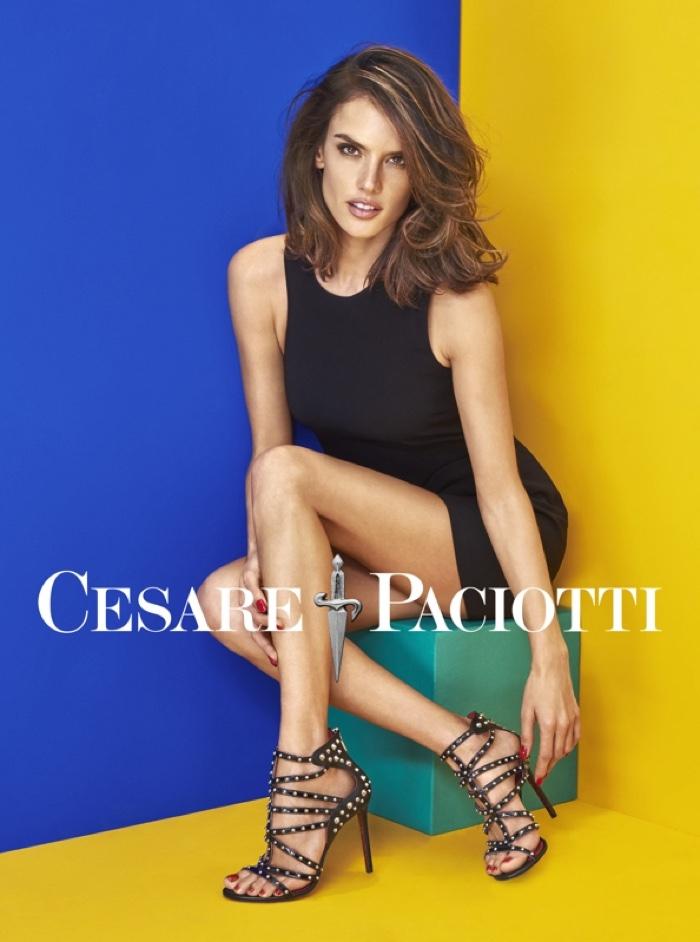 Alessandra Ambrosio Cesare Paciotti Spring 2016 Campaign