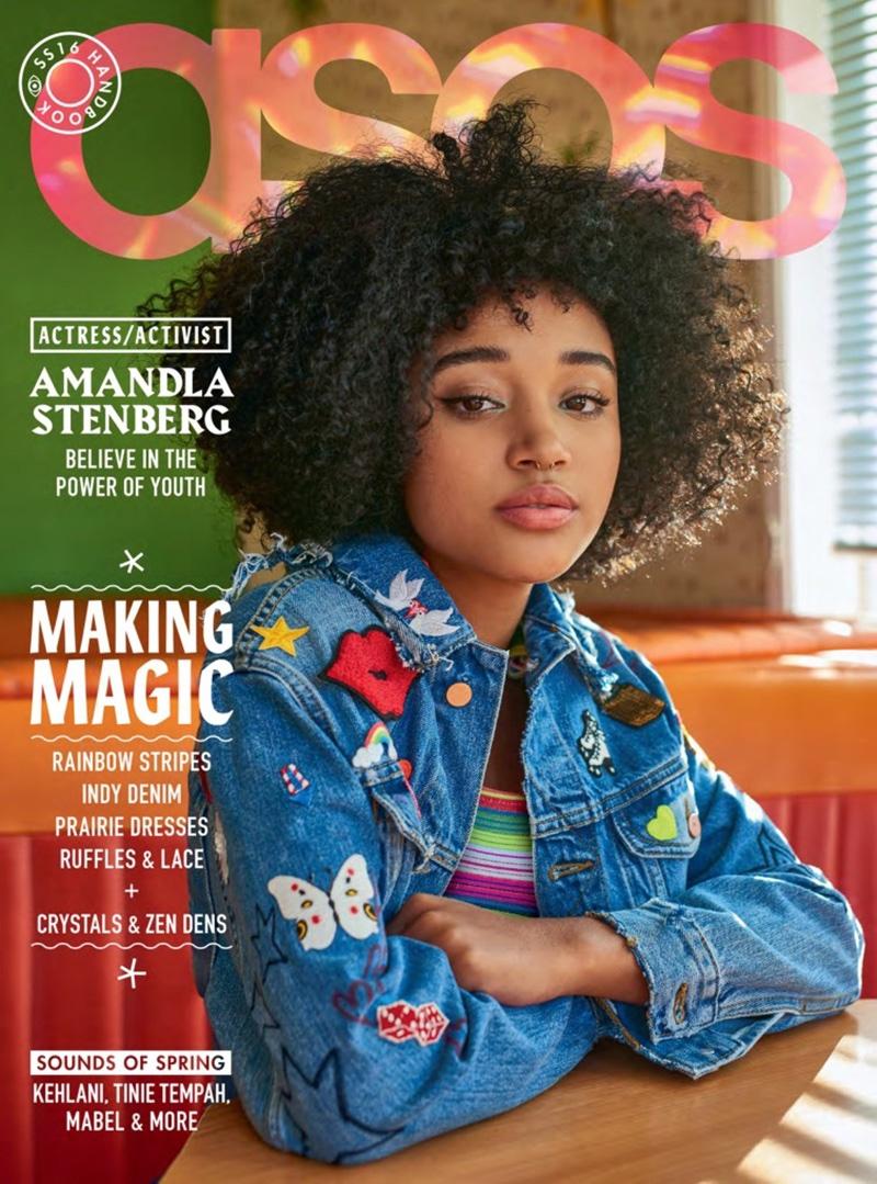 Amandla Stenberg on ASOS Magazine spring-summer 2016 cover