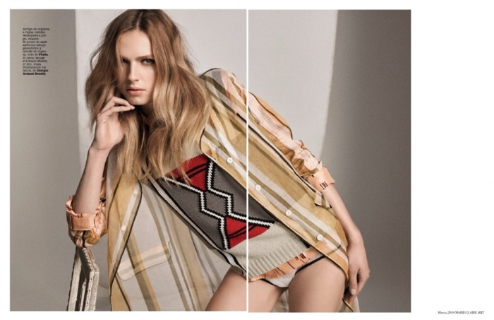 Andreja embraces prints in a Prada ensemble