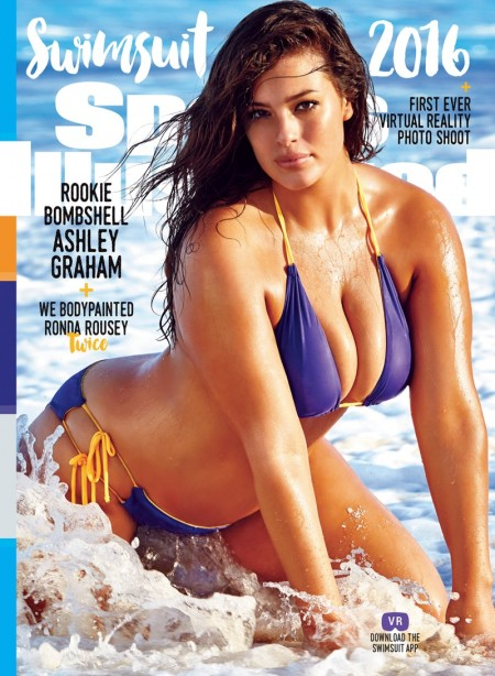 Ashley Graham on Sports Illustrated Swimsuit 2016 Issue Cover. Photo: James Macari