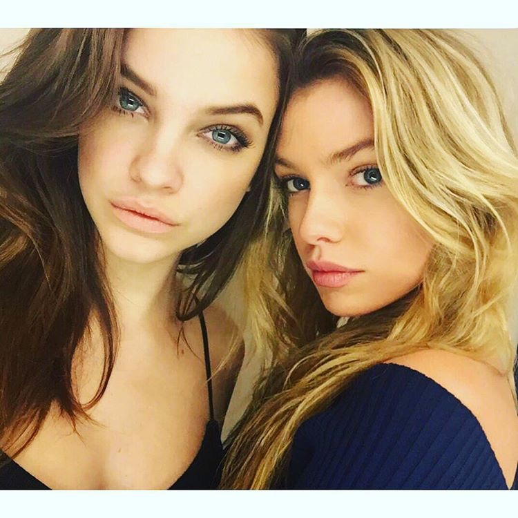 Models Barbara Palvin and Stella Maxwell link up on Instagram.