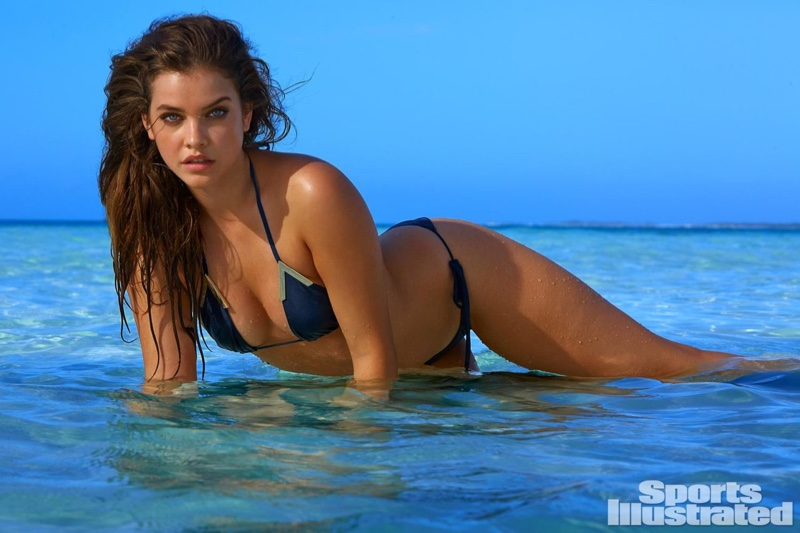 Barbara Palvin smolders in a blue bikini for SI Swimsuit Issue 2016