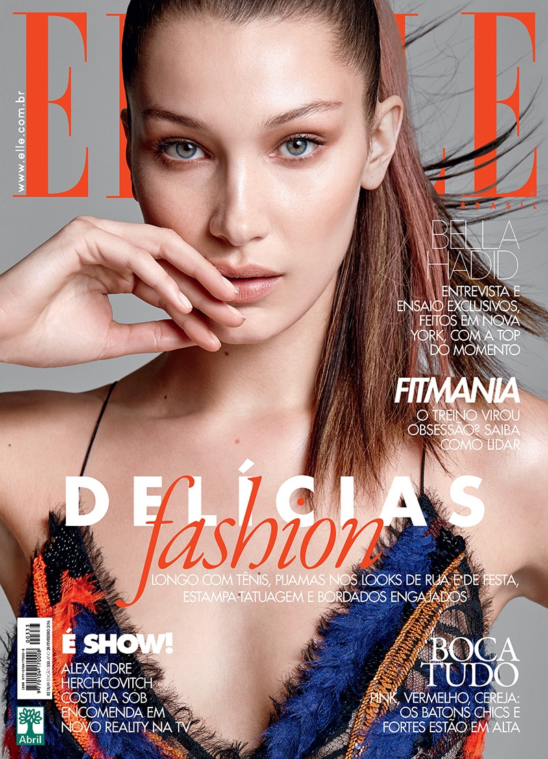 Bella Hadid on ELLE Brazil February 2016 cover
