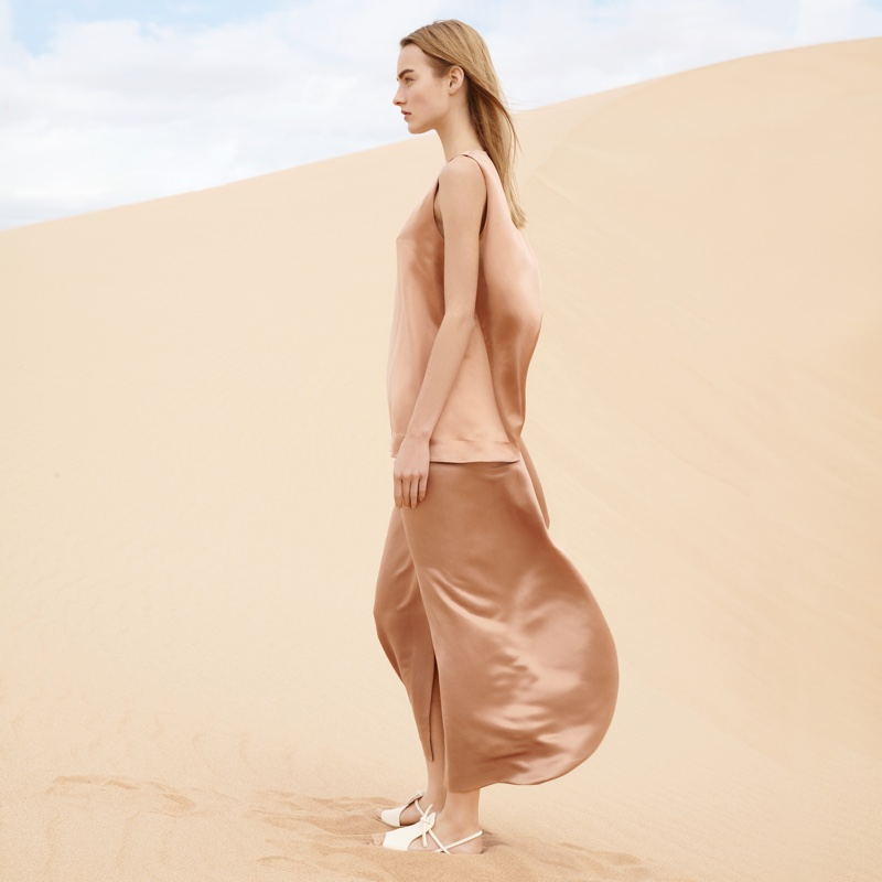 Maartje poses in billowing maxi dress from COS' spring 2016 collection