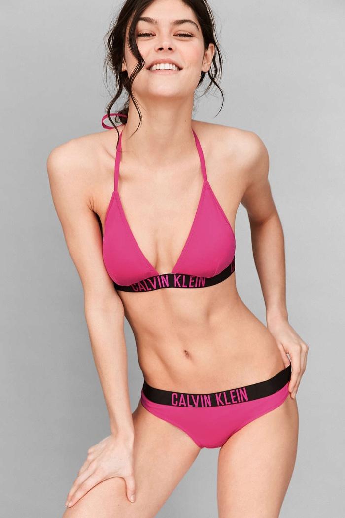 8801a83856 Calvin Klein Orange Halter Top Bikini and Hipster Bikini Bottom · Calvin  Klein Pink Triangle Bikini and Hipster Bikini Bottom