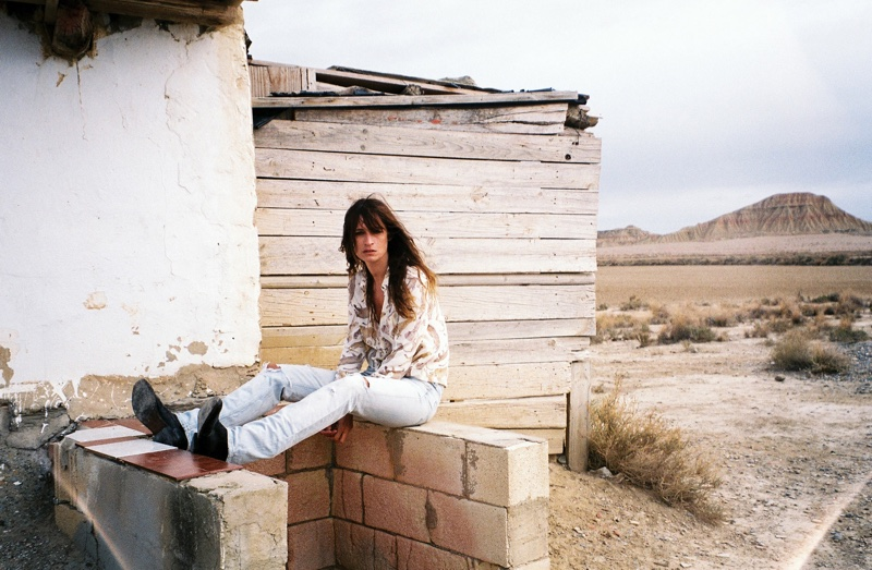 Caroline De Maigret Masters Casual Style In Equipment`s Spring Lookbook