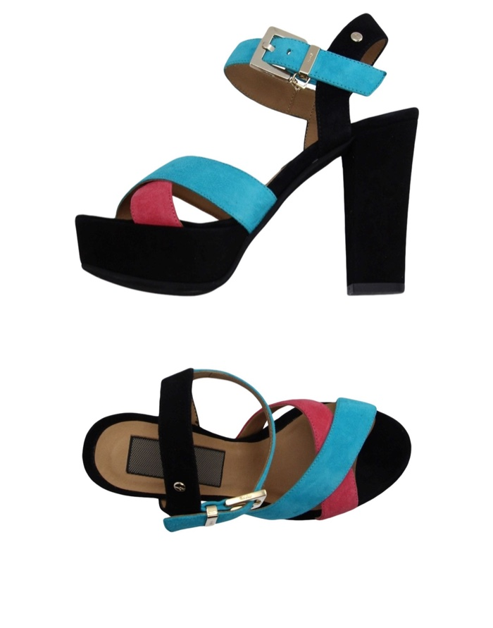 Cesare Paciotti Turquoise Platform Sandals