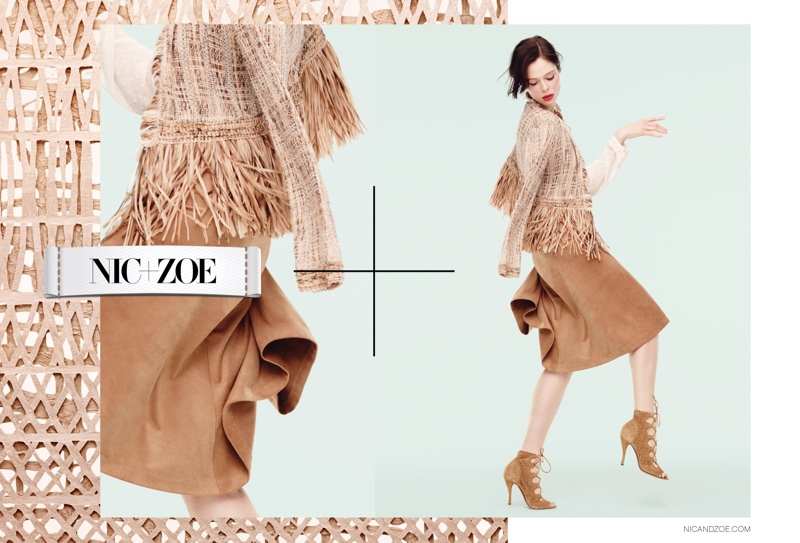 Coco Rocha Makes Moves In NIC + ZOE`s Spring 2016 Campaign