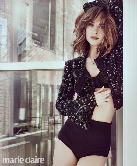 Dakota Johnson Poses in Lingerie for Marie Claire & Talks Dating