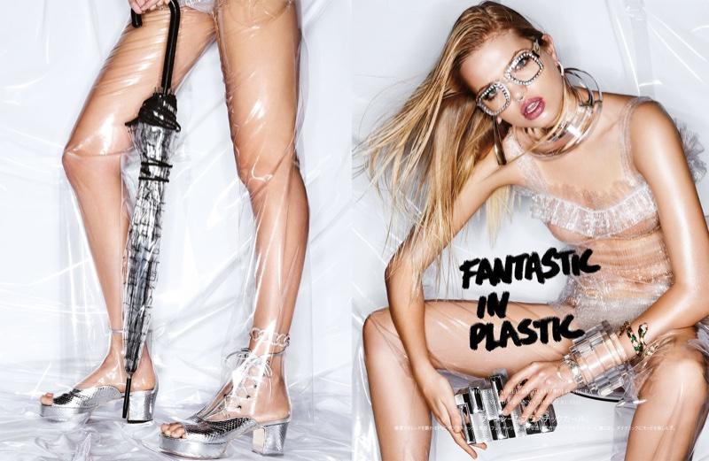 Fantastic in Plastic: Daphne Groeneveld Wears Sheer Style in Vogue Japan