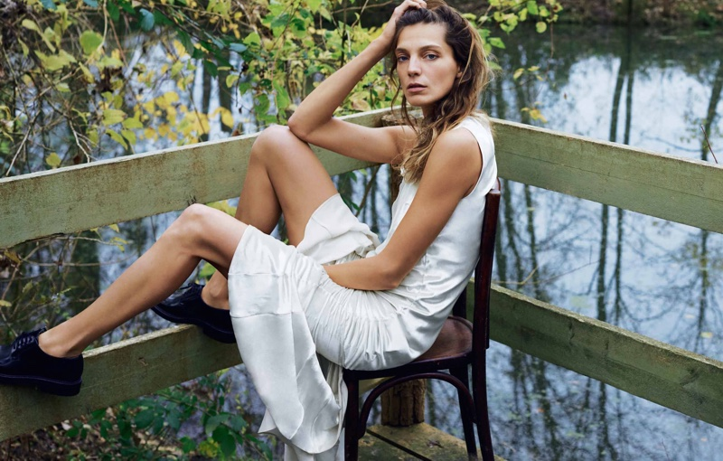 Daria Werbowy Masters Laid-Back Style in Marie Claire France