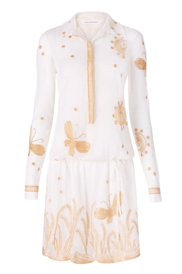 Diane Von Furstenberg Delphina Embroidered Tulle Dress