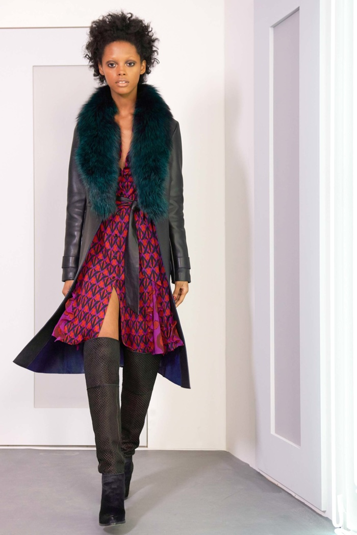 A look from Diane Von Furstenberg's fall-winter 2016 collection