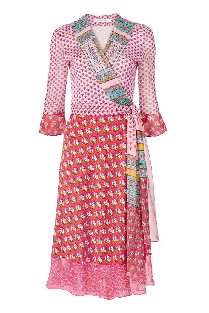Diane Von Furstenberg Nieves Silk Chiffon Wrap Dress