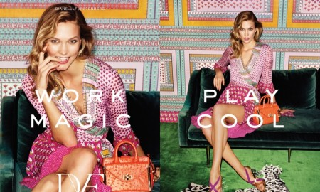 Karlie Kloss is all smiles in Diane Von Furstenberg's spring 2016 campaign