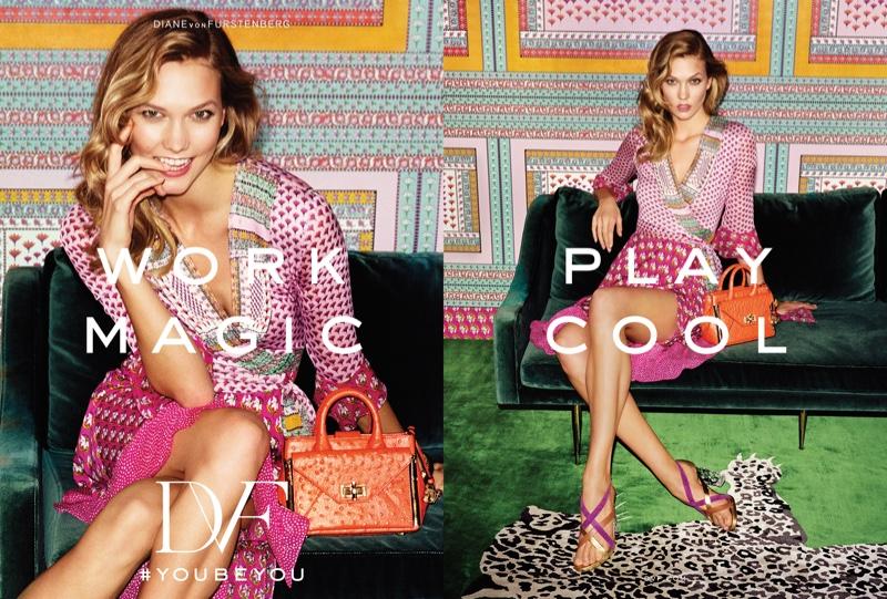 Karlie Kloss is All Smiles for Diane Von Furstenberg's Spring 2016 Ads