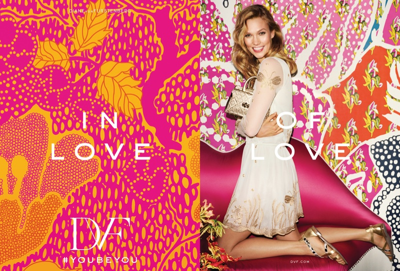 Karlie Kloss Is All Smiles For Diane Von Furstenberg`s Spring 2016 Ads