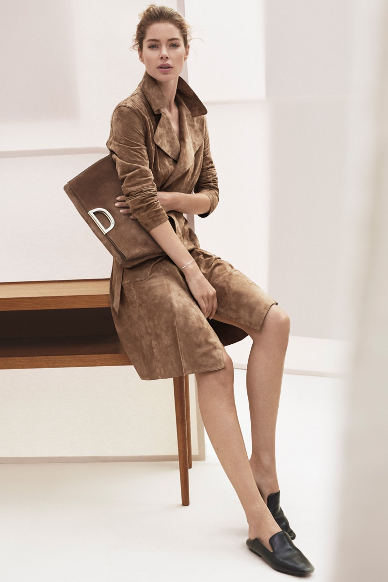 Doutzen Kroes Embraces Neutrals for Massimo Dutti's New York Collection
