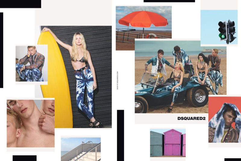 DSquared2 spotlights surfing inspired fashions for spring 2016 campaign