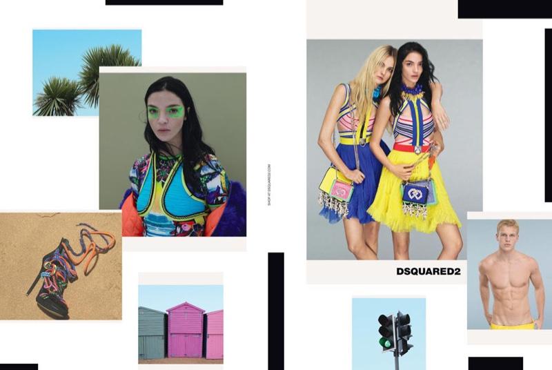 Caroline Trentini and Mariacarla Boscono star in Dsquared2's spring-summer 2016 campaign