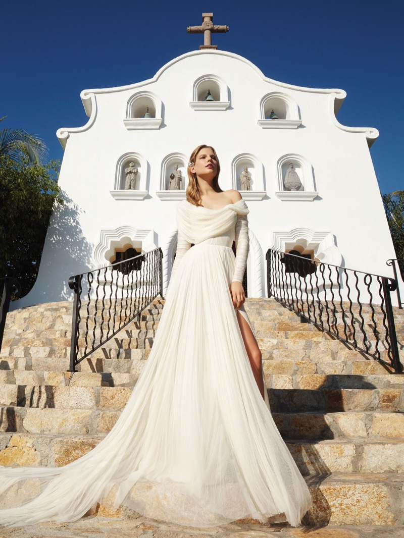 Elisabeth Erm Enchants in Bridal Dresses for Vogue Mexico Editorial