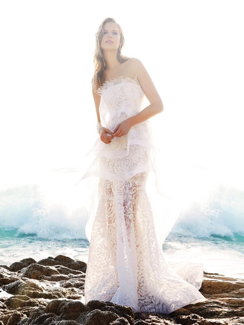 Elisabeth Erm Enchants in Bridal Dresses for Vogue Mexico Editorial