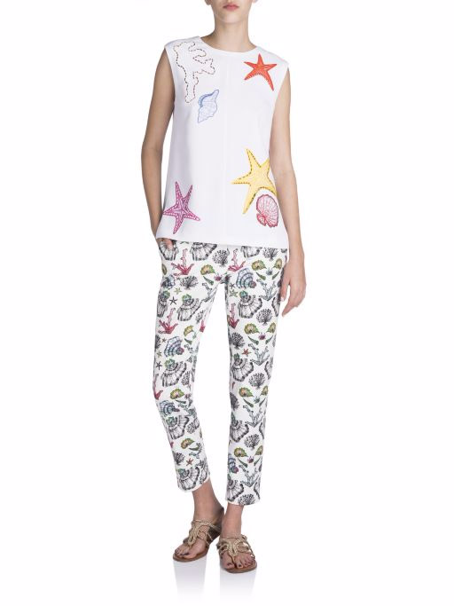 Emilio Pucci Embroidered Star Fish Blouse
