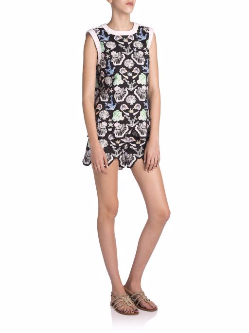 Emilio Pucci Sleeveless Shell Print Top