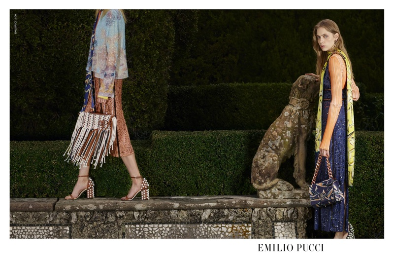 An image from Emilio Pucci's spring 2016 advertising campaign