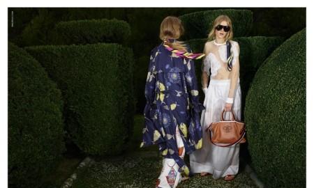 Emilio Pucci's spring 2016 campaign was photographed in Italy's Villa Gaberaia