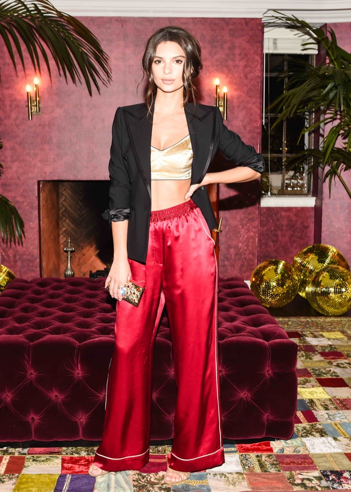 Emily Ratajkowski at Dolce & Gabbana's Pyjama Party. Photo: BFA for Dolce & Gabbana