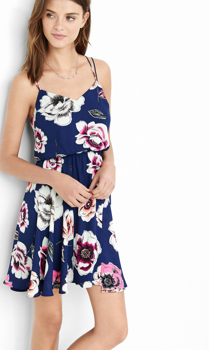 Floral print sundresses shop 2016 express blue floral print strappy dress mightylinksfo