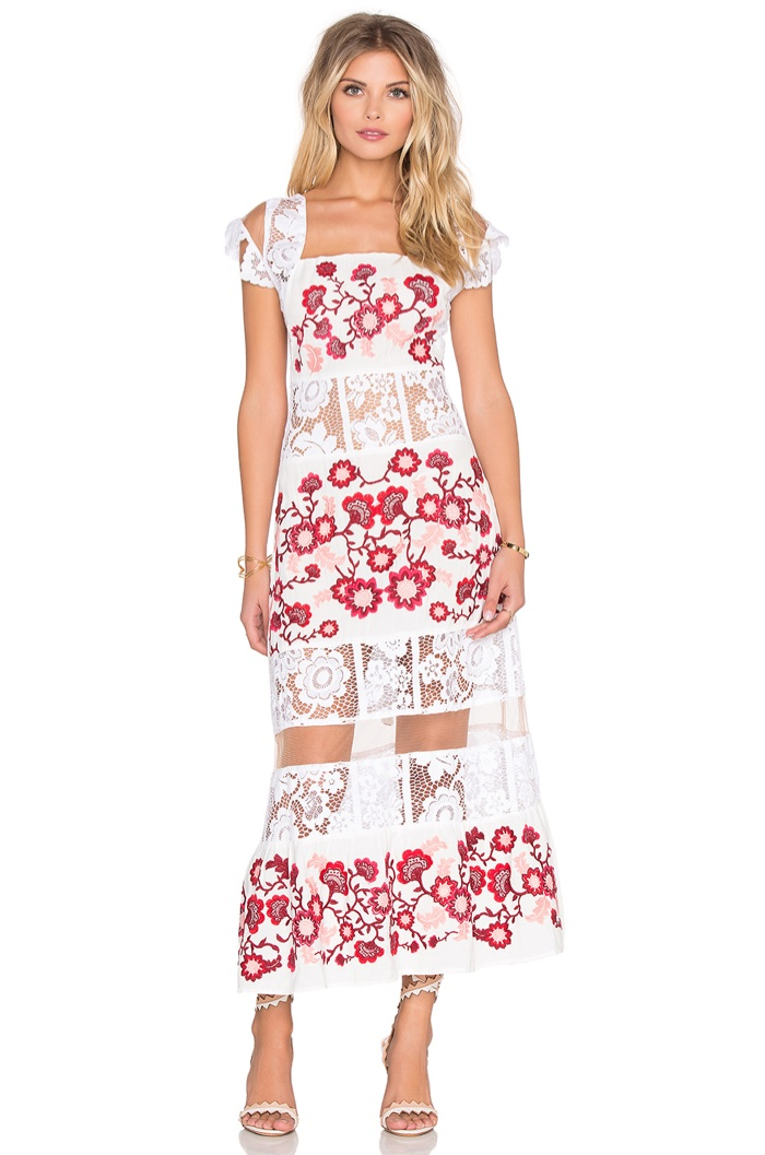 For Love & Lemons Cecelia White Dress