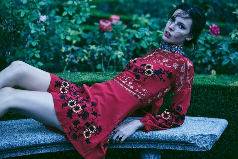 Ruby Aldridge stars in For Love & Lemons' spring 2016 lookbook