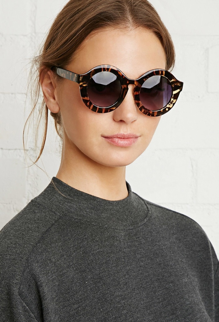 Forever 21 Round Sunglasses with Abstract Pattern $5.90
