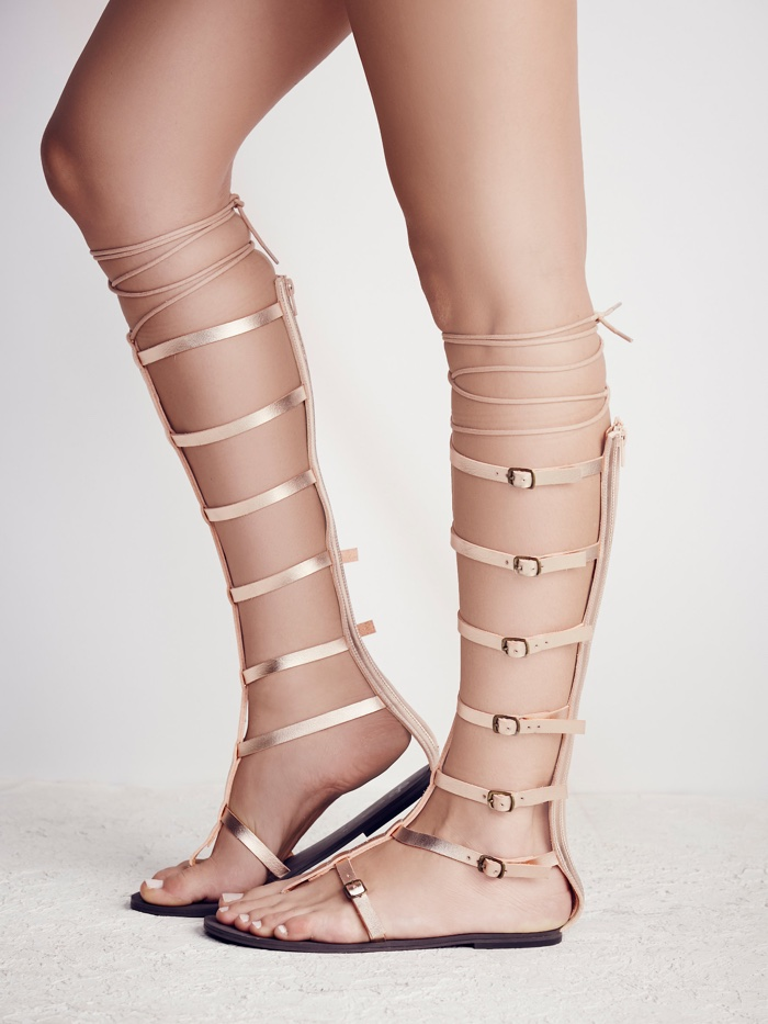 8e8f49c35536 Free People x Faryl Robin Silver Gladiator Sandals