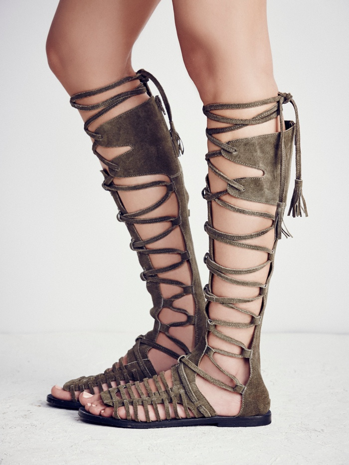 031e432826d6 ... Free People Tall Gladiator Sandals in Olive Green