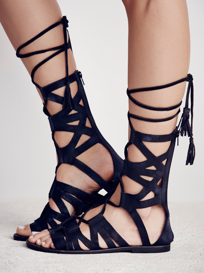 474ad32d8abb ... Free People Mesa Verde Black Gladiator Sandals