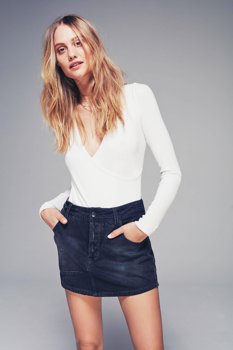 We The Free Dancer Tee, Free People Mia Denim Skirt
