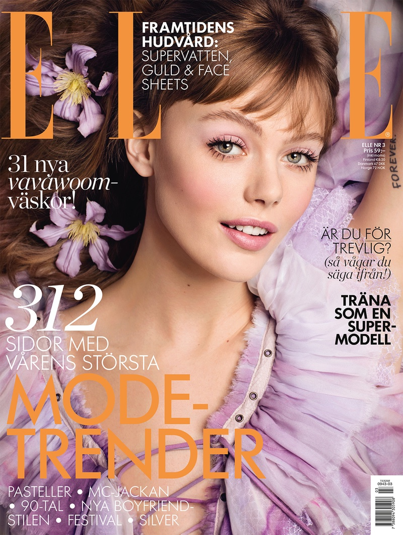 Frida Gustavsson Stuns in Spring Beauty for ELLE Sweden
