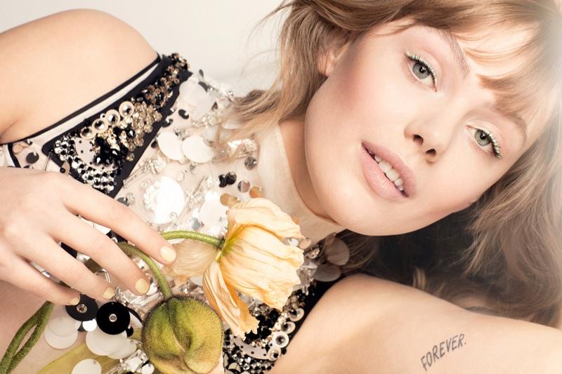 Frida Gustavsson Stuns in Spring Beauty for ELLE Sweden