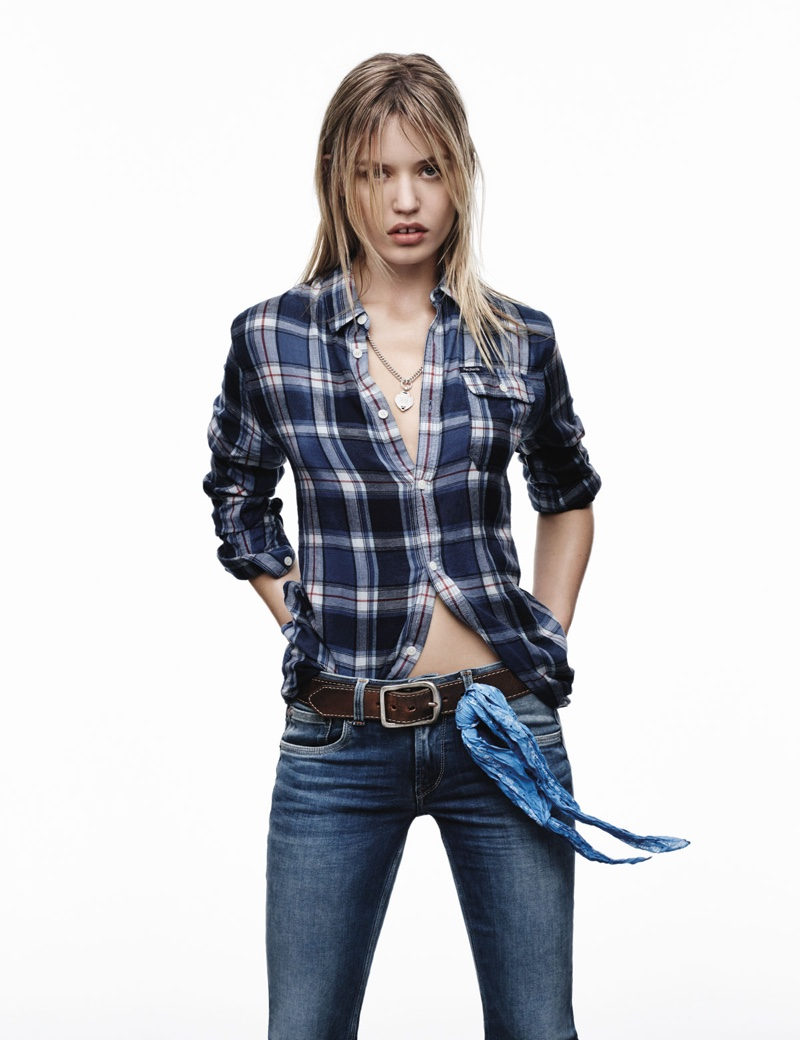 Georgia May Jagger Rocks Denim In Pepe Jeans Spring 2016 Ads