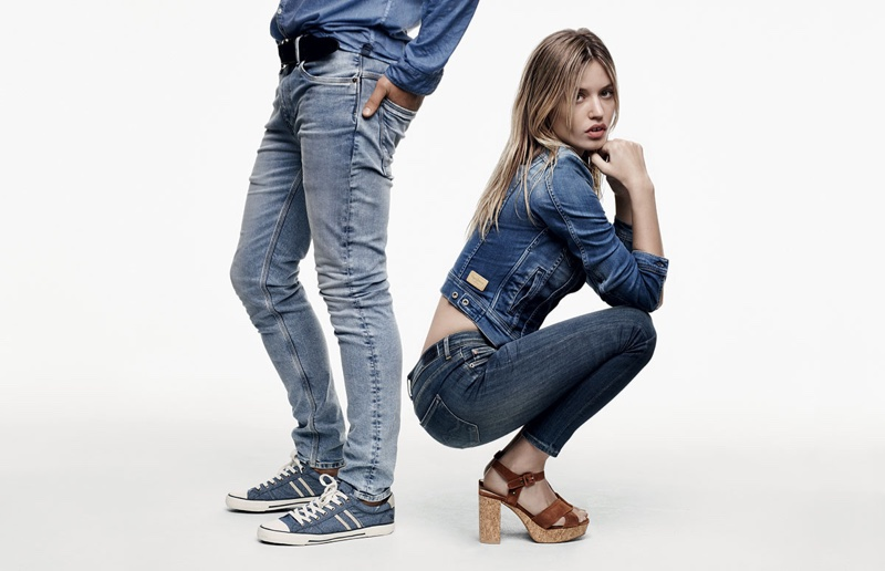 Georgia May Jagger Rocks Denim in Pepe Jeans' Spring 2016 Ads