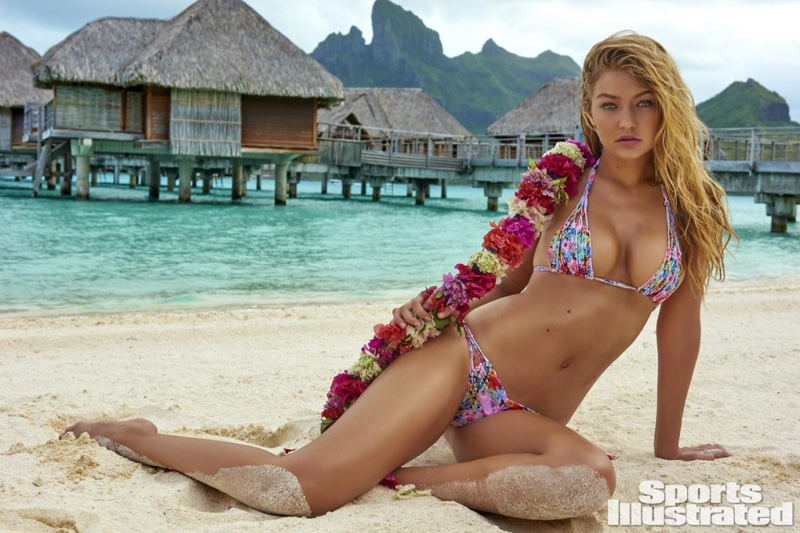 fbfefacff378d Gigi was captured in the islands of Tahiti for SI Swimsuit Issue 2016
