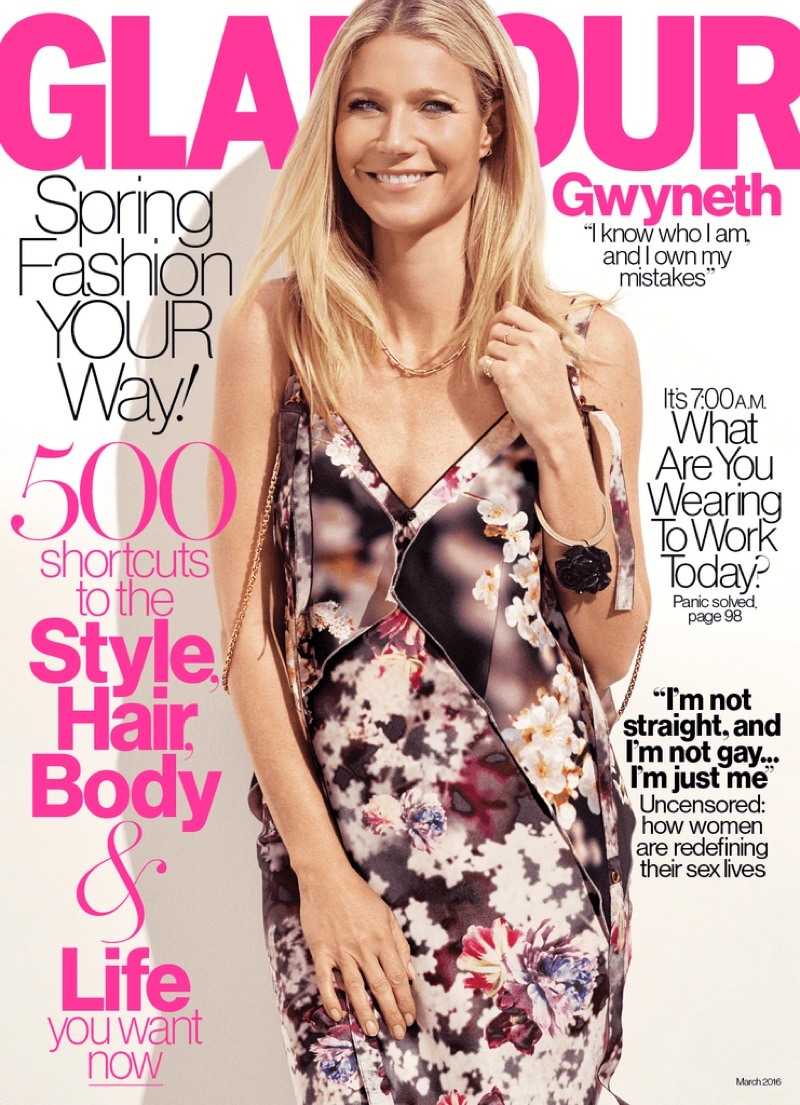 Gwyneth Paltrow Stars in Glamour & Talks Relationship with Chris Martin