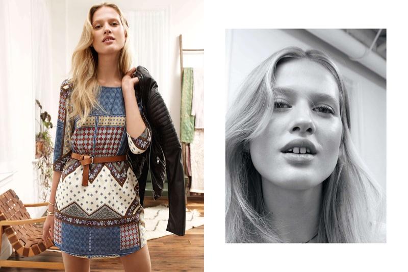 H&M Biker Jacket, Viscose Dress and Leather Belt