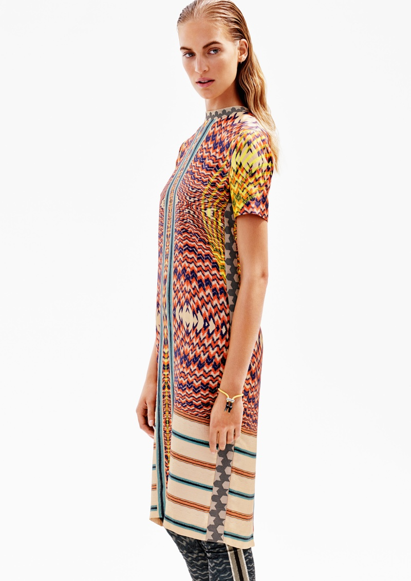 Long printed dress from H&M Studio's spring 2016 collection