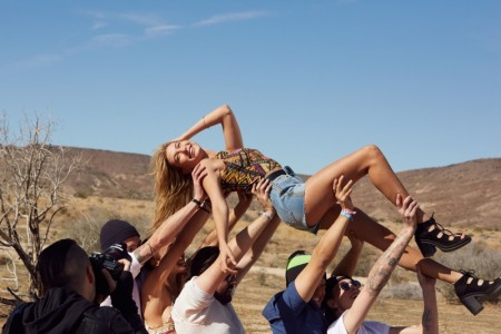 Go Behind the Scenes with Hailey Baldwin for the New H&M x Coachella Collection