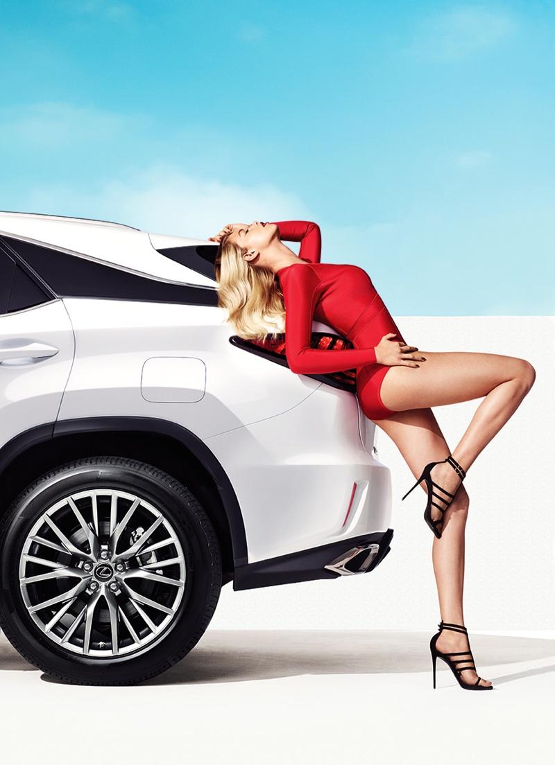 Hailey Clauson stars in Lexus RX campaign