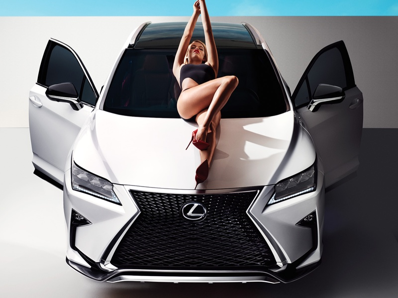 Lexus rx campaign featuring sports illustrated swimsuit issue model